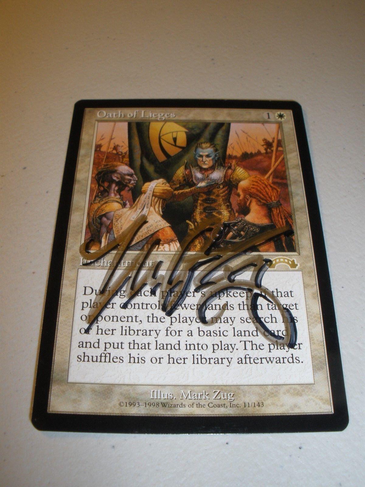 MTG Magic Signed (Mark Zug) Artist Proof Oath of Lieges x1 Exodus LP-NM