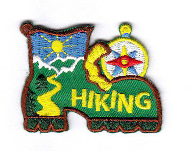 """CAMPING /""""HIKING/""""  IRON ON PATCH//SPORTS OUTDOORS HIKER SPORTS"""