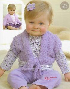 Knitting Pattern Copy Baby/Childs Bolero Cardigan Sirdar ...