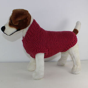 Printed Knitting Instructions Chunky Garter Stitch Dog