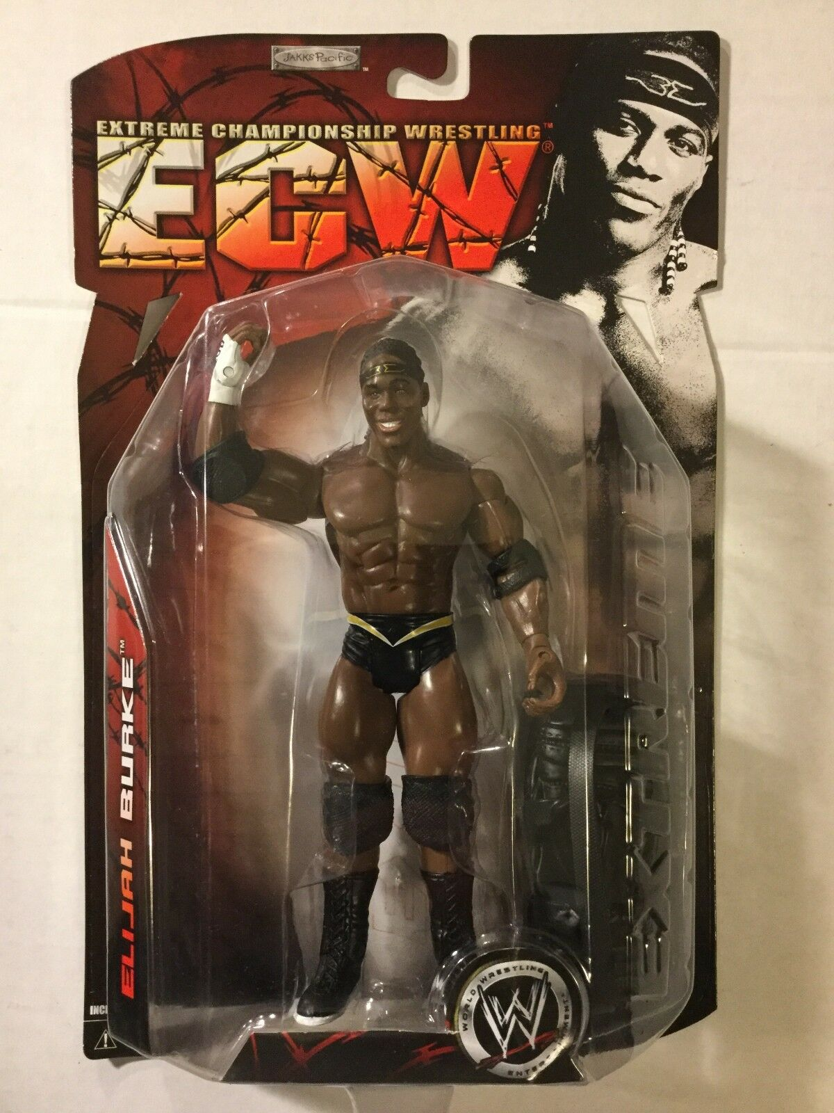 ELIJAH BURKE 2007 WWE Ruthless Aggression ECW Series 2 Jakks FREE SHIPPING