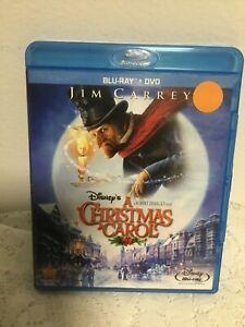 A CHRISTMAS CAROL BLU-RAY + DVD MOVIE DISNEY JIM CARREY 2009 ANIMATED SCROOGE   eBay