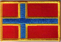 Shetland Islands Flag Embroidered Patch T7