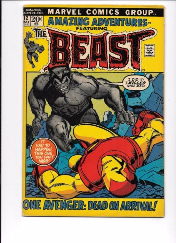 Amazing Adventures #12 featuring The Beast May 1972 Iron Man