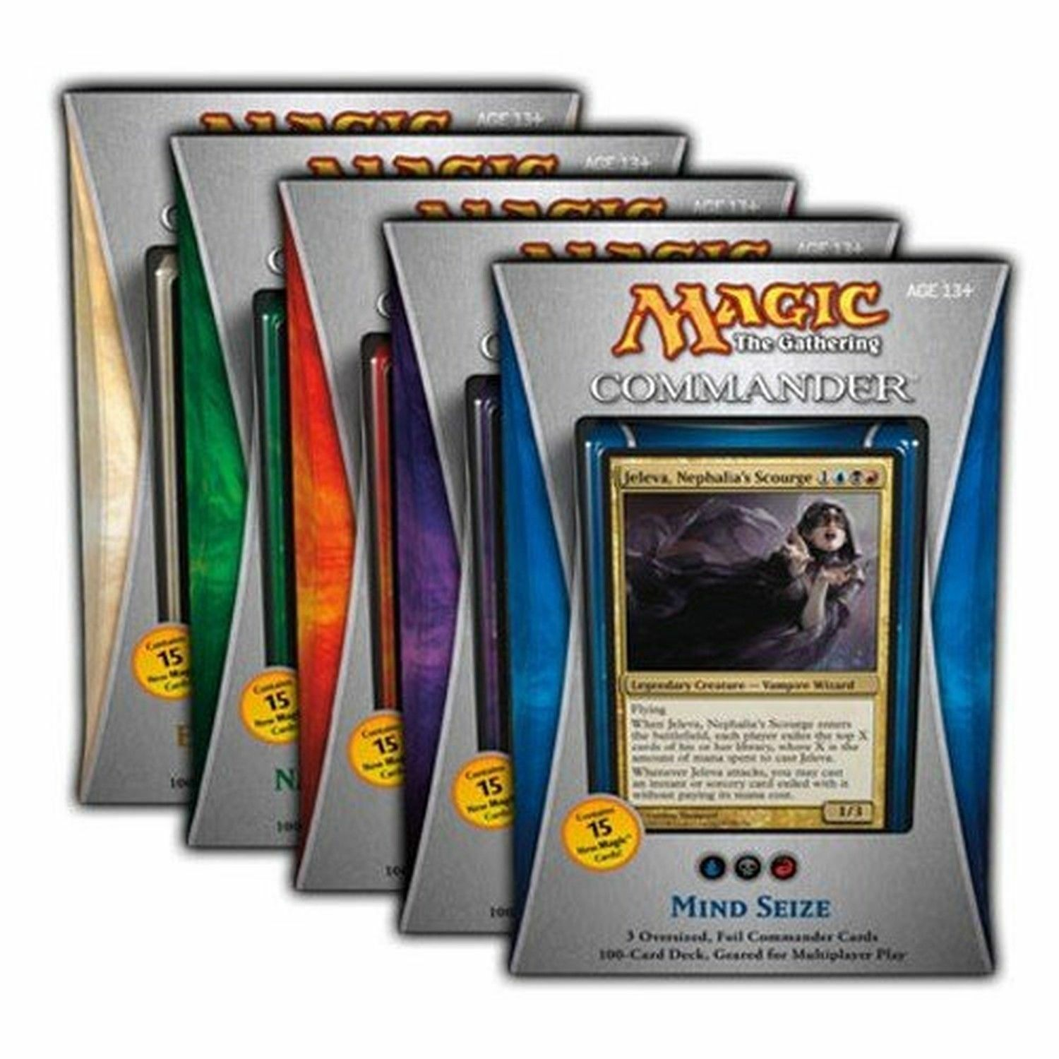 MTG Magic the Gathering - Factory Sealed - English Commander 2013 Case Set (5)