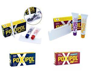 2-Komponenten-Kleber-Epoxyd-Harz-mit-Metallspaenen-POXIPOL-Sekundenkleber-Kleber
