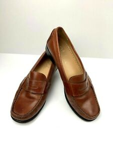 Cole-Haan-Women-s-Shoes-Loafers-Size-7B-Brown-Slip-On