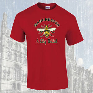 Manchester-Worker-Bee-A-City-United-T-Shirt-Choice-of-Colours