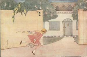 Rie-Cramer-Lentebloemen-Little-Girl-Gets-Home-Series-129-Postcard-c1930