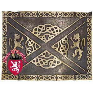 Amical Men's Highland Kilt Boucle De Ceinture Lion Ramapnt Celtic Knot Antique Scottish Buckle-afficher Le Titre D'origine Prix Raisonnable