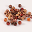 100pcs 9x10mm Mixed Wooden Beads for DIY Jewelry Making Necklace Bracelets
