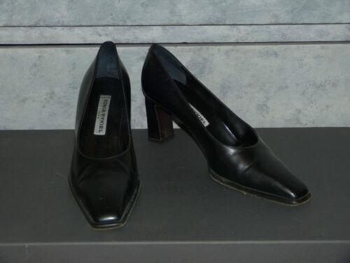 Rykiel Sonia 38 En Escarpins Noir Etat Excellent 5 Cuir Taille Chaussures EP5qx15