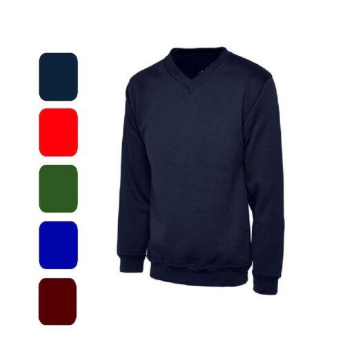 NEW Premium School Sweatshirts Jumper Cardigan Round V Neck Ages 2-14 XS-XXL