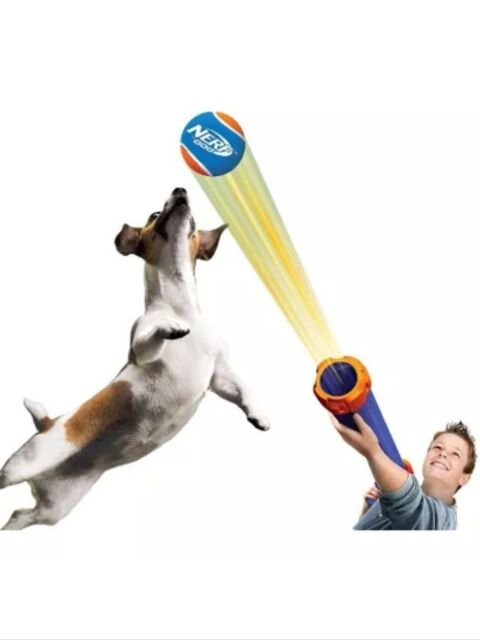 Nerf Dog Tennis Ball Blaster Toy Shoots Up To 50' Includes Ball Great Exercise