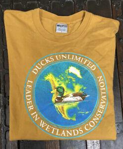 Ducks Unlimited Wetlands Conservation Mens Vintage Long Sleeve Lg Graphic Shirt Ebay