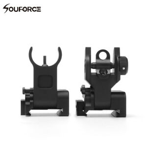 Flip-up-Front-Rear-Iron-Sight-Set-BUIS-Sights-20mm-Mount-for-Gun-Rifle-Airsoft