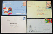 Hello Kitty Thailand Illustrated Set of 4 Covers Letters Envelopes Briefe H-8609