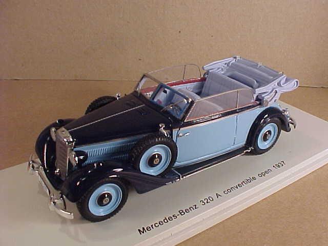 Spark Spark Spark  S4905 1 43 Resin 1937 Mercedes-Benz 320 A Open Congreenible, 2-Tone bluee 1b5f0c