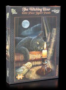 Fantasy-Puzzle-il-Witching-Hour-Lisa-Parker-Gioco-di-disposizione-gatti