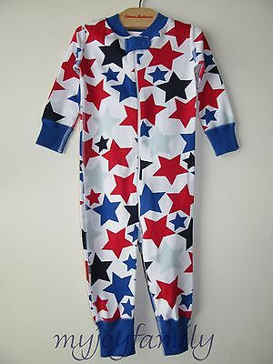 HANNA ANDERSSON Baby Organic Zip Sleeper Patriotic Stars 70 9-12 months NWT