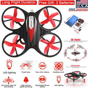Mini-LED-RC-Drone-Helicopter-Remote-Control-GYRO-Kids-Gift-Quadcopter-Headless