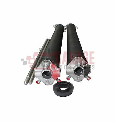 Pair of Garage Door Torsion Springs 207 x 2 with Winding Bars with Center Nylon Bushing Spring Length 24