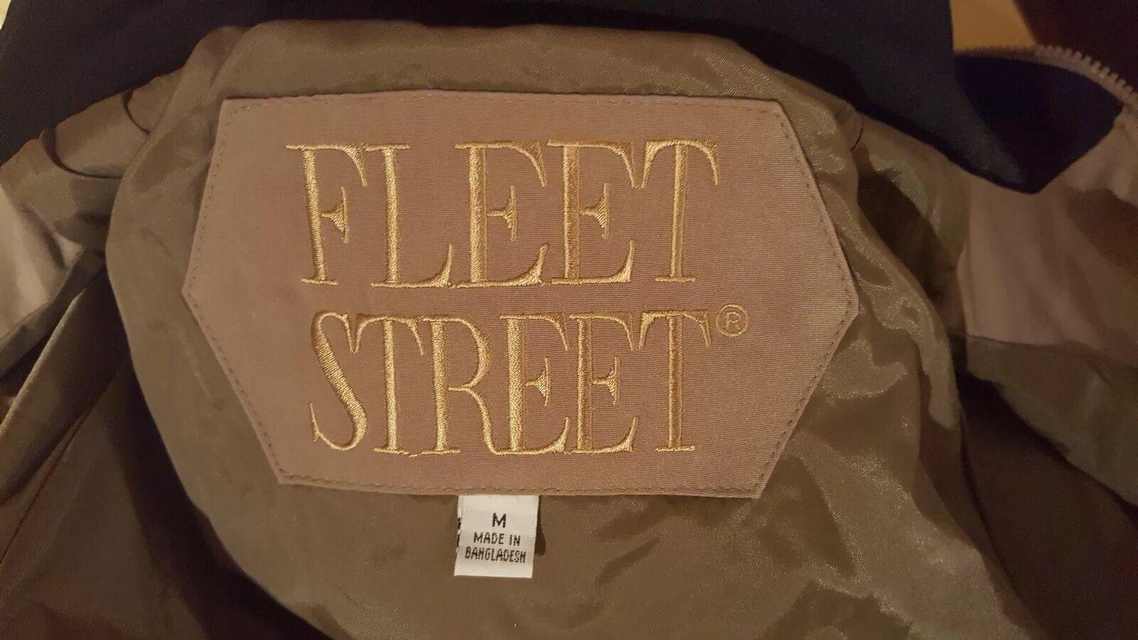Fleet Fleet Fleet Street London Womans Lined Zip Front Trench All Weather Medium Excellent  30471d