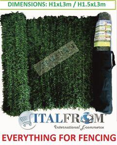 haie jardin cloture herbe artificielle feuilles pins | eBay