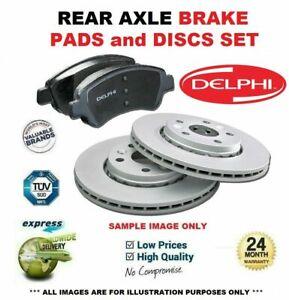 Delphi Rear Axle BRAKE DISCS + brake PADS SET for MAZDA 3 1.6 2003-2009