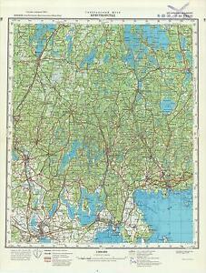 Russian Soviet Military Topographic Map Kristianstad Sweden 1