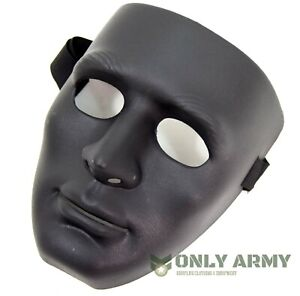 Special-Forces-Black-Protective-Full-Face-Mask-Hockey-Airsoft-Plastic-ABS-Shield