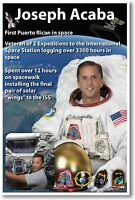Nasa Astronaut Joseph Acaba - First Puerto Rican In Space- Poster