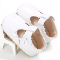 Toddler Newborn Baby Boy Girl Leather Soft Sole Crib Shoes Christening Prewalker