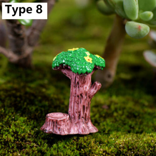 Fairy Garden Simulation stone signpost Welcome Stake Figurine Mini Road Sign