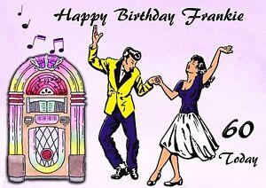 Personalised Birthday Card Rock N Roll Mum Dad Friend Brother Sister