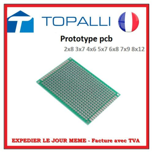 Plaque prototype PCB simple face ou double face 5x7 cm PCB Board DIY