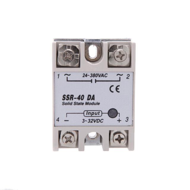 SSR-40DA Solid State Relais Relay Halbleiterrelais 3-32V DC// 24-380V AC// 40A