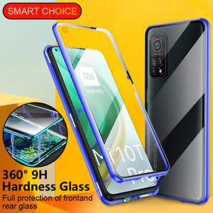 Pour-Xiaomi-10T-Note-10-Pro-Lite-Poco-X3-NFC-Coque-Magnetique-Etui-Verre-trempe