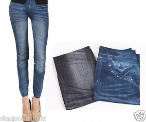 Stretch Slim Sexy Fit Faded Leggings Jeans Style Skinny Wrinkle