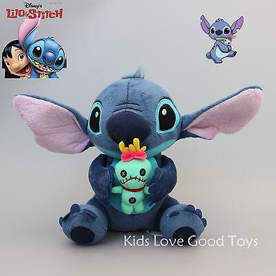 "Disney LILO & STITCH Stitch and Scrump 24cm/9.6"" Soft Plush Stuffed Doll Toy"