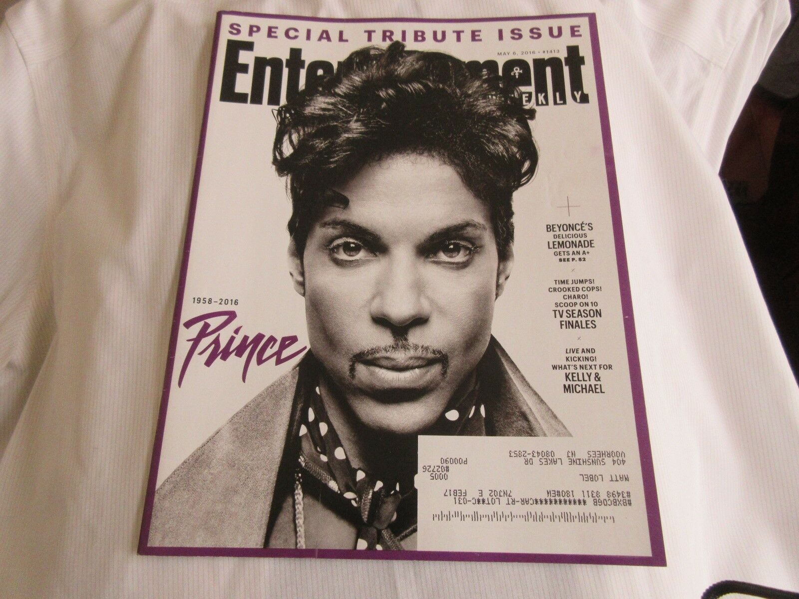 PRINCE (1958-2016) , Entertainment Weekly , May 9 , 201