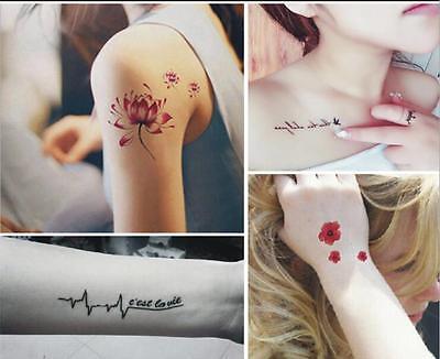 20pcs Body Tattoo Sticker Lovely English Words Make Temporary ...