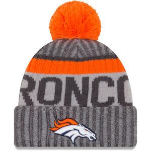 Denver Broncos à revers knit pom beanie new era//NFL//chapeau d/'hiver//Side Ligne