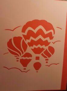 Details Zu 1280 Schablonen Heißluftballon Tattoos Vintage Stencil Stanzschablonen Shabby