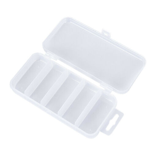 5 Grid Transparent Fishing Box Lure Lead Hooks Connector Case Collection THFUK