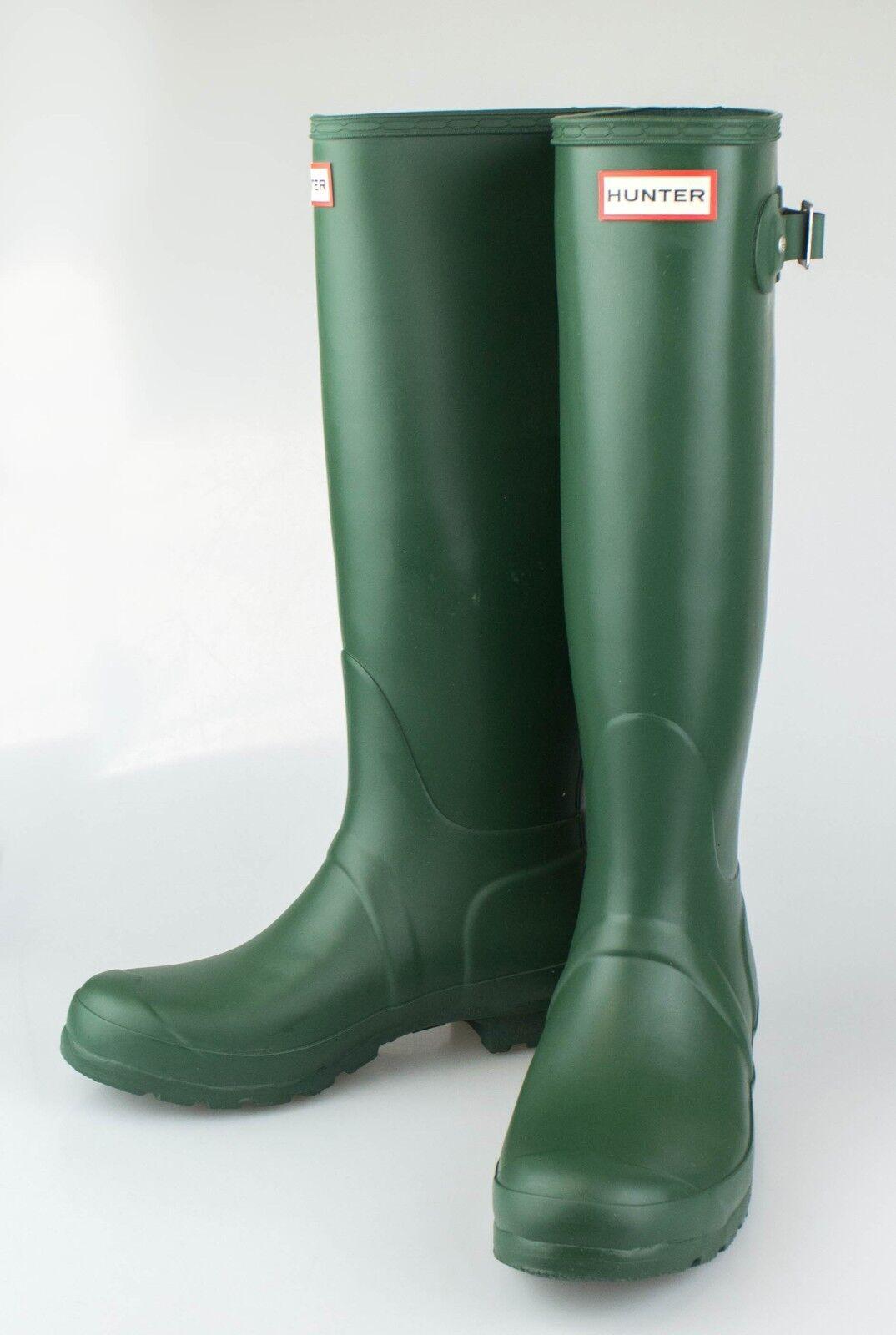 NIB HUNTER Hunter Grün Original Tall Rain Stiefel schuhe Größe 5 US 3 UK 36 EU