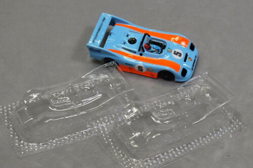 HO Slot Car Parts - HCS Porsche 936 Clear .010 Lexan Body Lot of 2 - NEW ! !