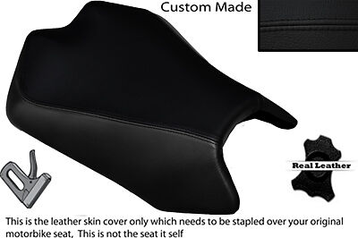 BLACK STITCH CUSTOM FITS APRILIA TUONO V4 V4R APRC 1000 11-13 FRONT SEAT COVER