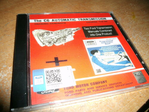 FORD MUSTANG SHELBY FAIRLANE TORINO C6 TRANSMISSION SHOP SERVICE MANUAL CD-ROM