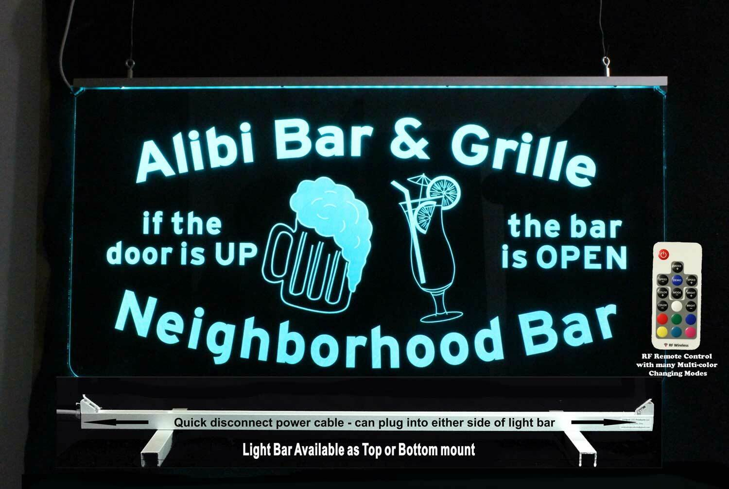 Personalized Man Cave Sign, Beer Mug Pub Sign, Personalized Lighted Sign